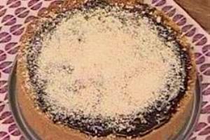 طرز تهیه تارت شکلات نارگیل