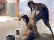 مردی در حمام زنانه