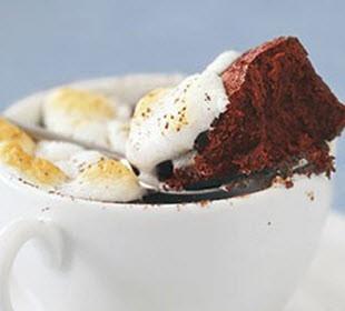 طرز تهیه کیک شکلاتی گرم