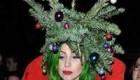 تاج درخت کریسمس روی سر خانم لیدی گاگا + عکس